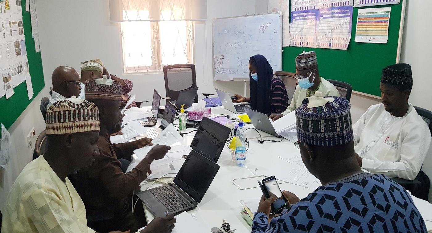 Bauchi SPHCDA finance team and partners during an immunization finance working group meeting